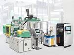 Injection moulding machine and freeformer from Arburg.