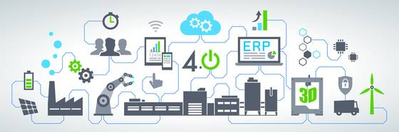 Picture Industry 4.0 up to the ERP