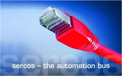 sercos needs just one commercial Ethernet cable